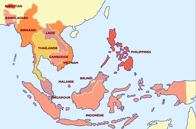 Carte Paludisme Asie Du Sud Est.Cocardes Du Monde Entier Asie Du Sud Est